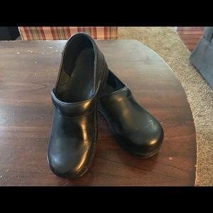 Dansko black leather clog euro 41